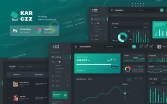 Event Ticketing Admin Dashboard UI Elements