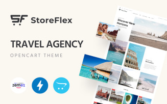 StoreFlex‌ ‌-‌ ‌Travel‌ ‌Agency OpenCart Template