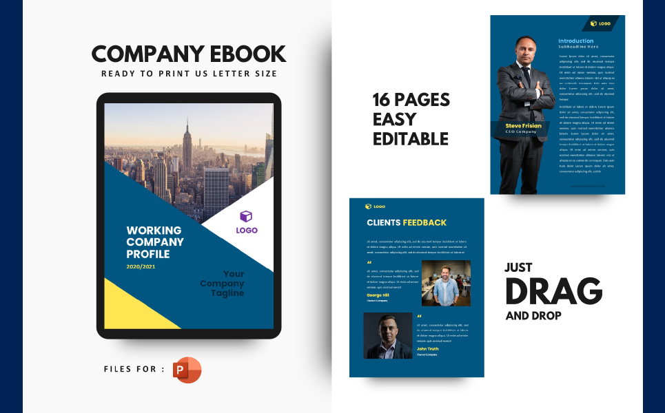 Professional Company Profile 2020 Presentation PowerPoint Template