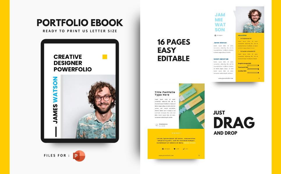 Professional Graphic Designer Portfolio Presentation PowerPoint Template
