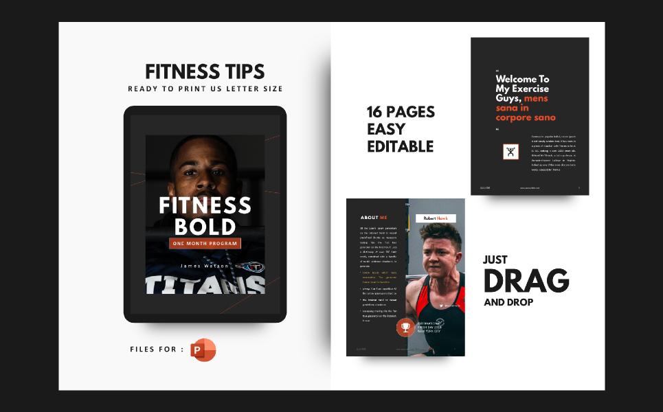 Fitness Motivation Presentation PowerPoint Template