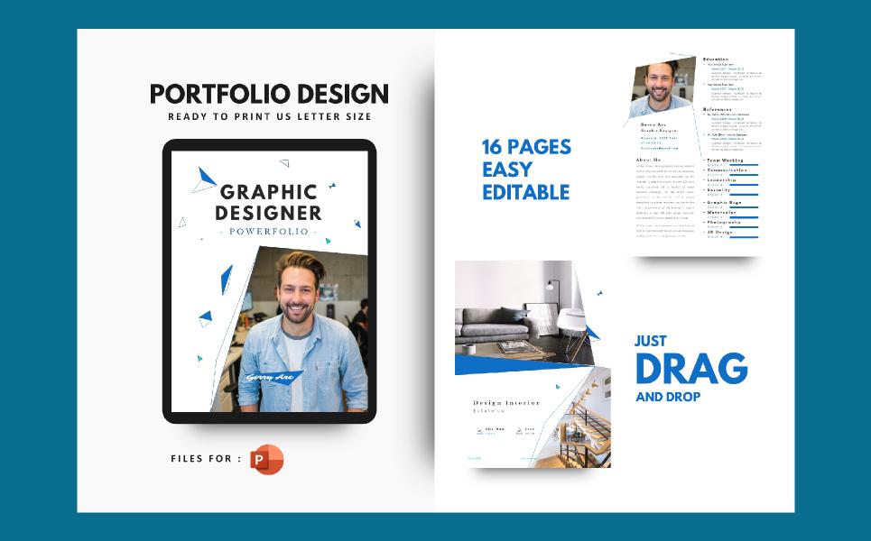Graphic Designer Portfolio Presentation PowerPoint Template
