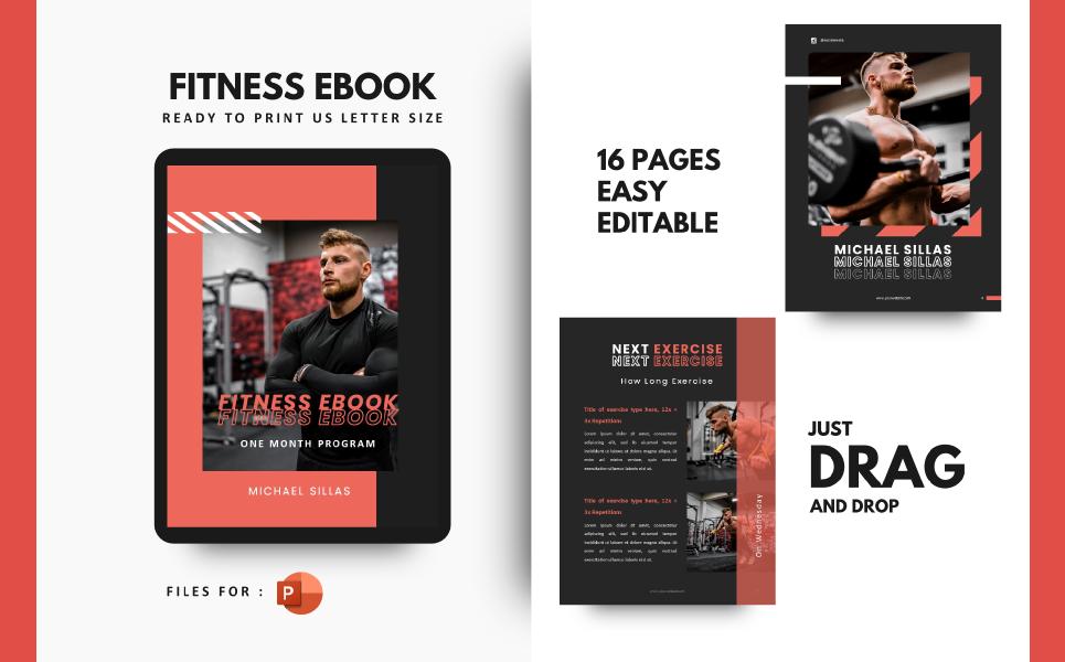 Fitness Body Builder Motivator Presentation PowerPoint Template