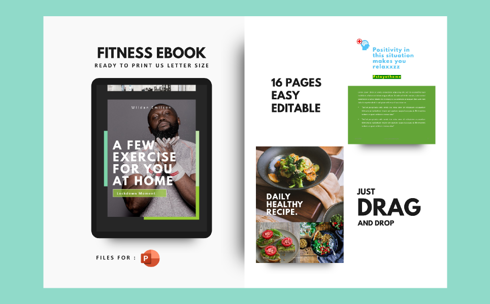Daily Fitness at Your Home Presentation PowerPoint Template