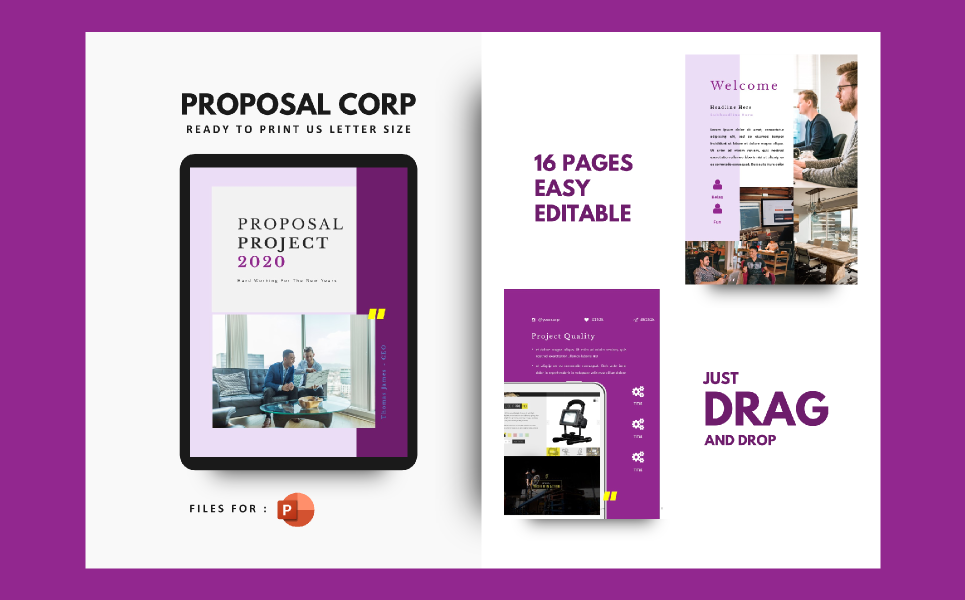 Project Proposal Company Presentation PowerPoint Template