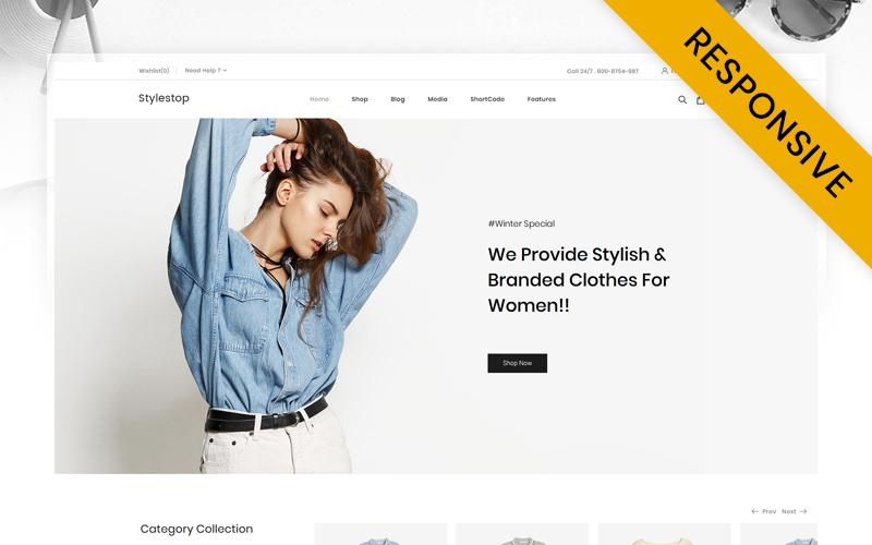 Responsywny motyw WooCommerce Stylestop - Minimal Fashion Store #112887