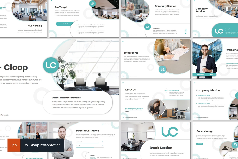 Up-cloop PowerPoint Template