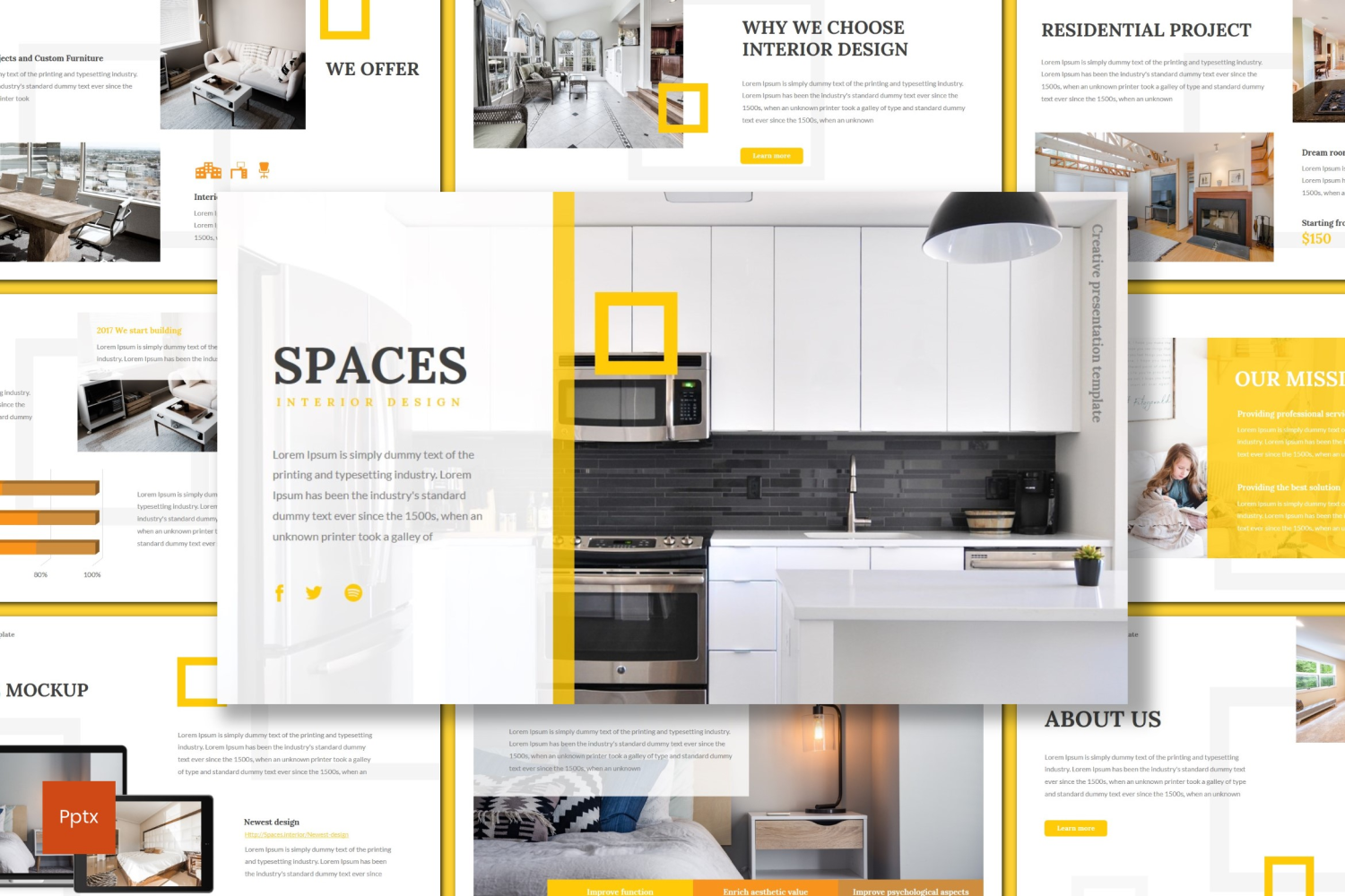 Spaces PowerPoint Template