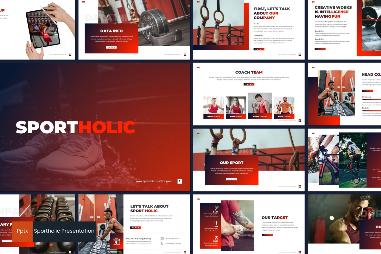 Sportholic PowerPoint Template