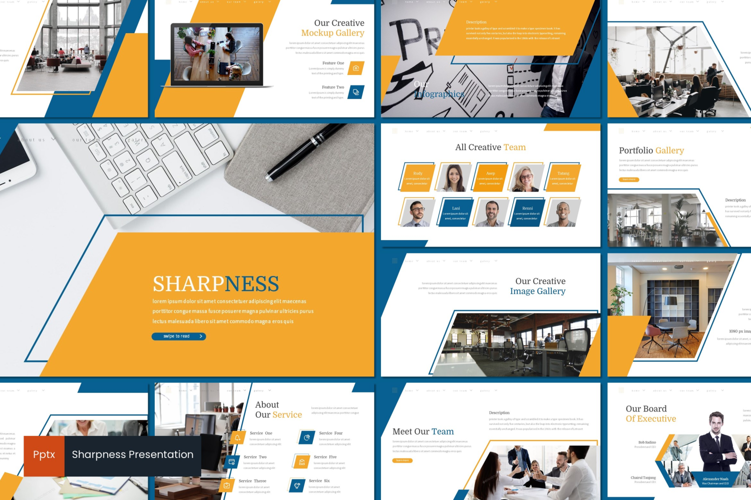 Sharpness PowerPoint Template