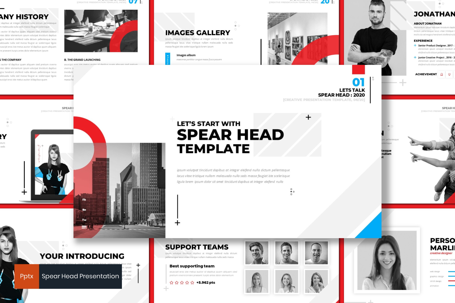 Space Head PowerPoint Template