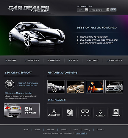 Creare site dealer auto