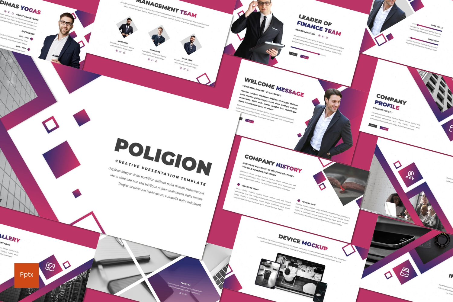 Poligion PowerPoint Template