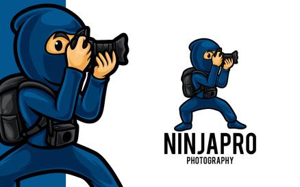 Photographer Ninja Logo Template
