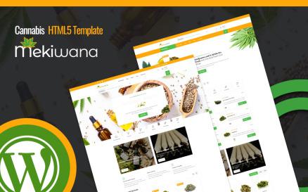 Mekiwana - Medical Cannabis Shop WordPress Theme