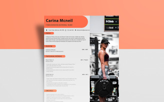 Free Personal Trainer – Carina McNeil Resume Template