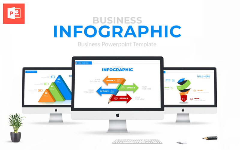 """Business Infographic Presentation"" modèle PowerPoint  #113293"