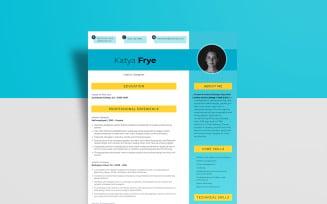 Free Interior Designer - Katya Frye Resume Template