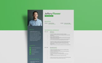 Free Web Analyst - Jeffery Flower Resume Template