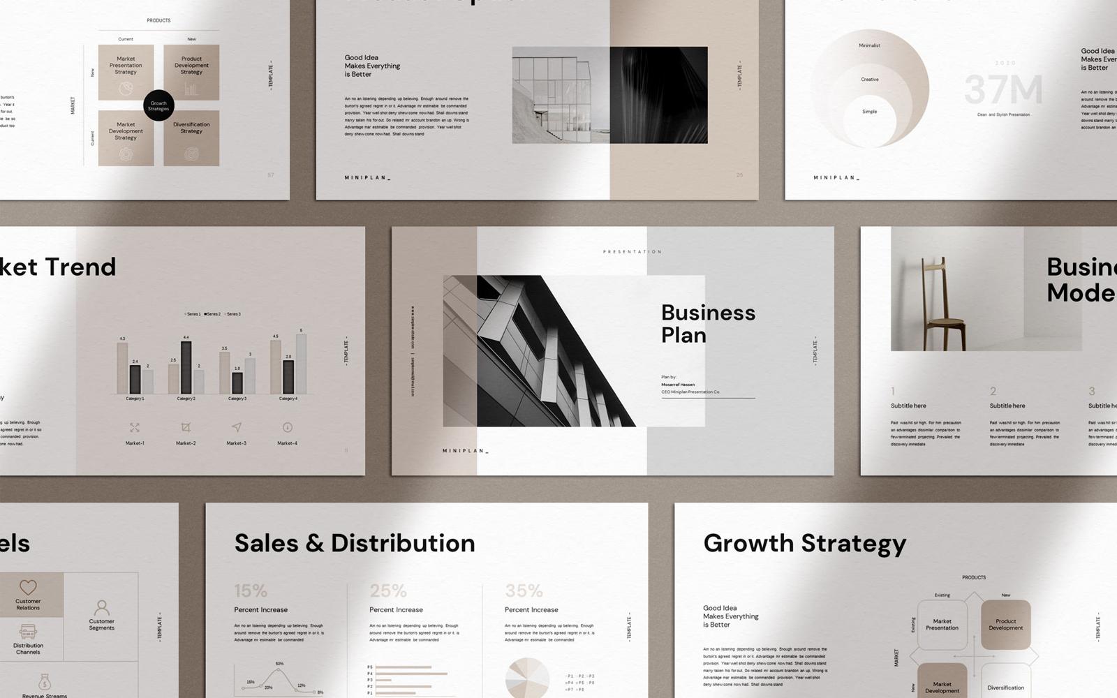 """Miniplan Business Plan Presentation"" - Keynote шаблон №113306"