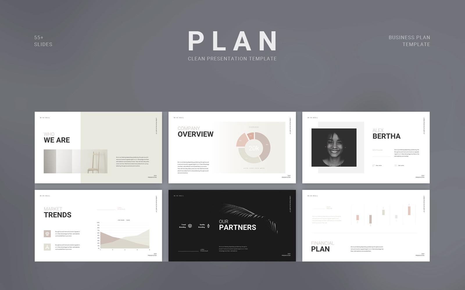 "Tema PowerPoint #113304 ""Scholar Business Plan Presentation"""