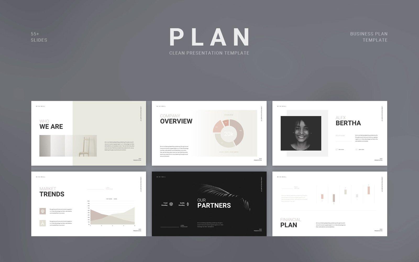 "Template Google Slides #113302 ""Scholar Business Plan Presentation"""