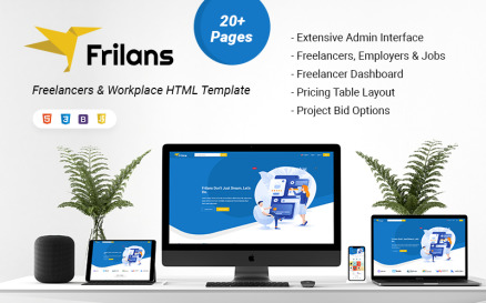 Frilans Freelancers and Workplace HTML Website Template