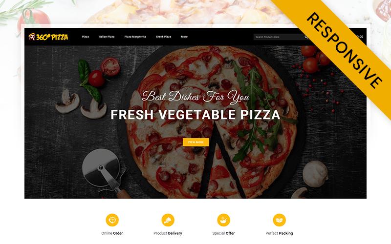 "Responzivní OpenCart šablona ""PizzaMart - Online Pizza Store"" #113519"