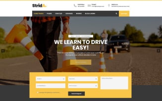 Strida - Driving School WordPress Theme
