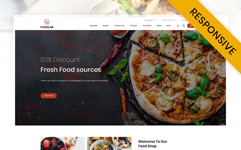 """FoodLab  - Restaurant Store"" Responsive PrestaShop Thema №113866"