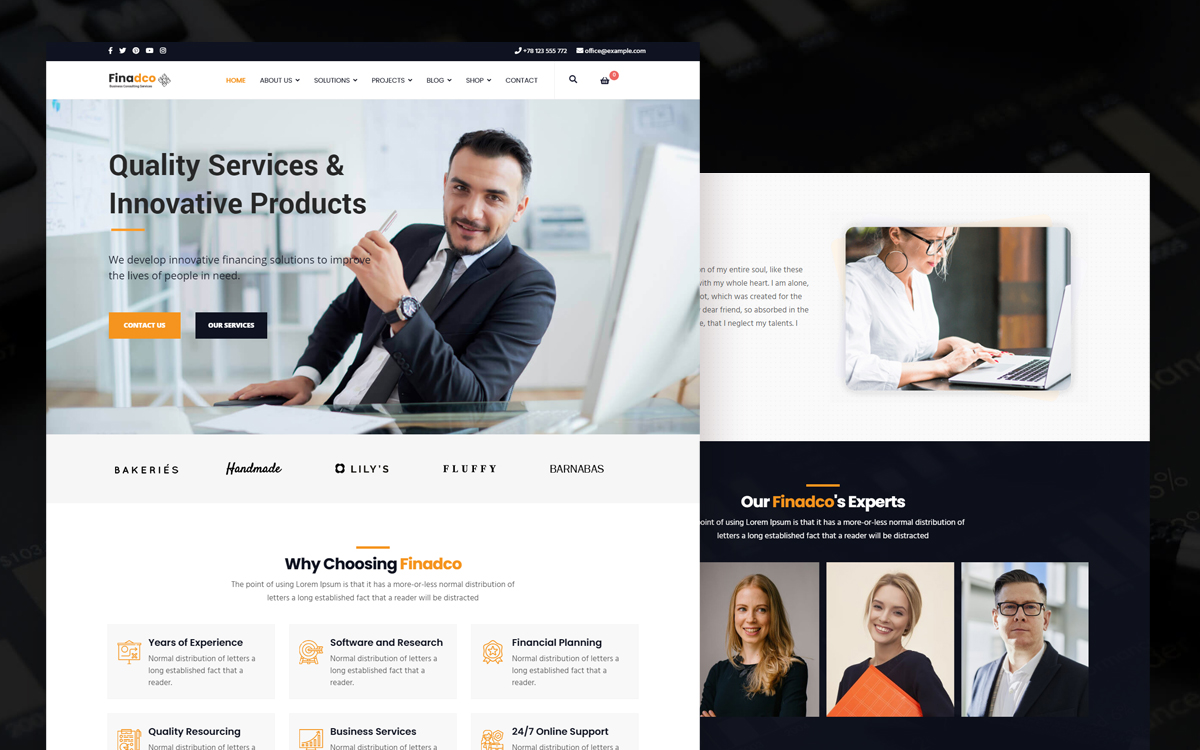 "Plantilla Joomla ""Finadco - Business Consulting Service"" #113868"