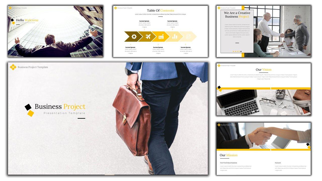 """""""Business Project"""" modèle PowerPoint Premium #114013"""