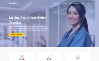 Healthcare - Doctor & Medical Clinic Landing Page Template