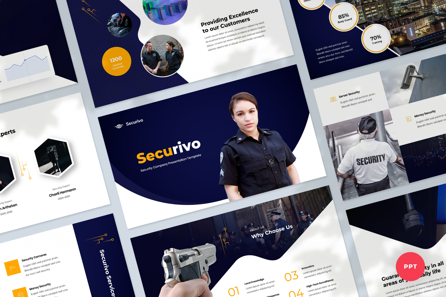 Security Company Presentation PowerPoint Template