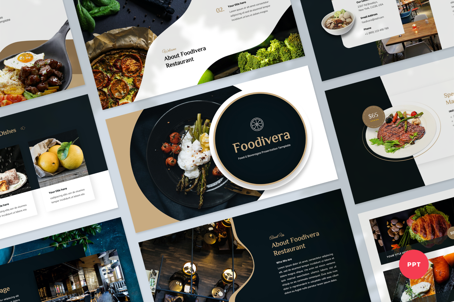 Food & Beverages Presentation PowerPoint Template