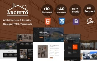 Archito - Modern Architecture & Interior Design Responsive Bootstrap Website Template