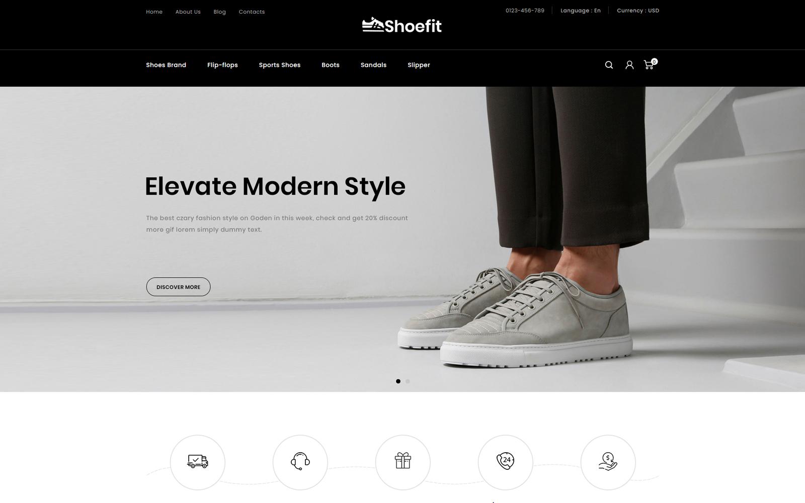 """Shoefit - Shoes and Fashion Accessories Store"" - адаптивний PrestaShop шаблон №114155"