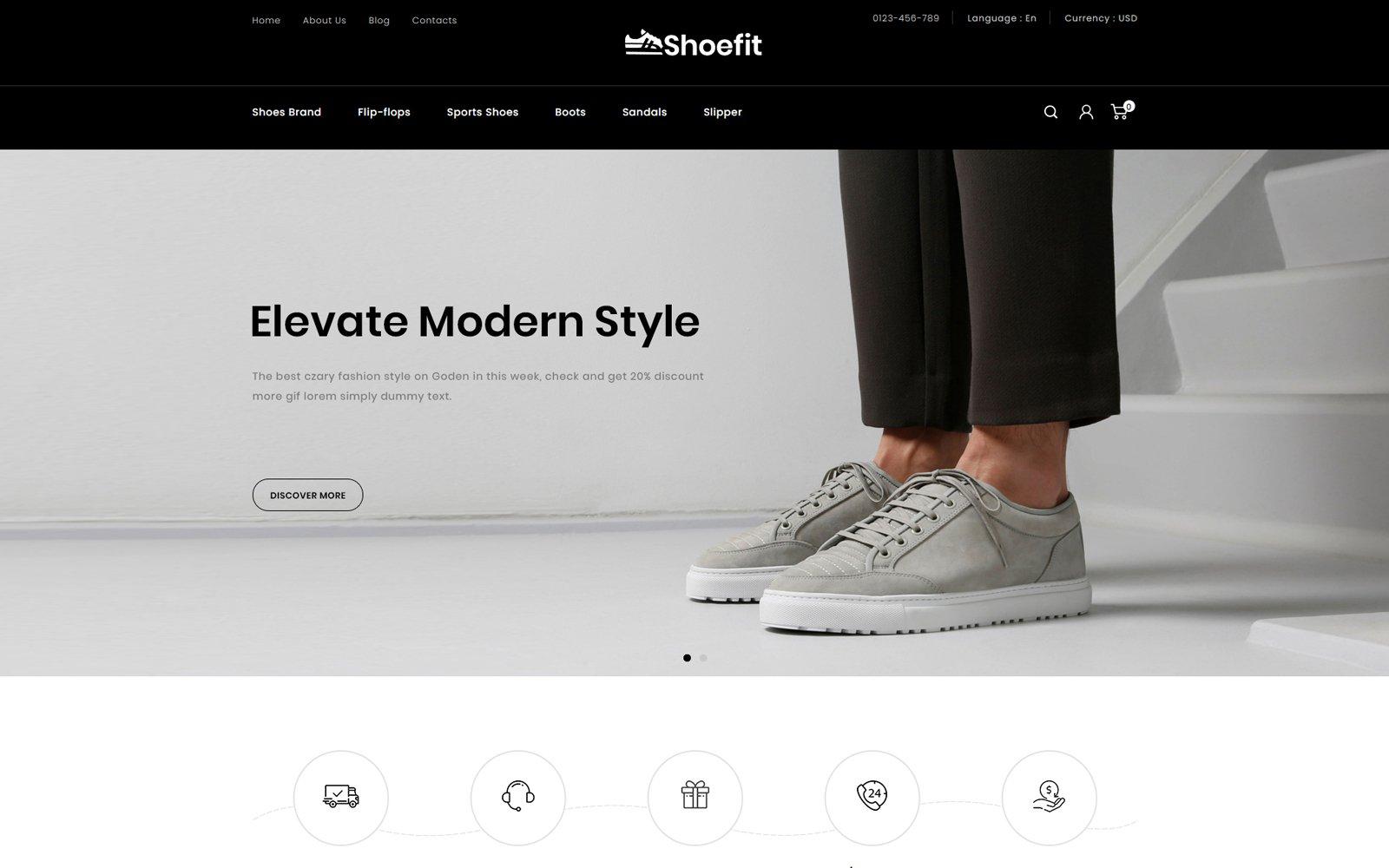 Shoefit - Shoes and Fashion Accessories Store Tema PrestaShop №114155