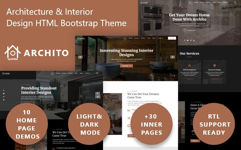"""Tema Siti Web Responsive #114156 """"Archito - Modern Architecture & Interior Design Responsive Bootstrap"""""""