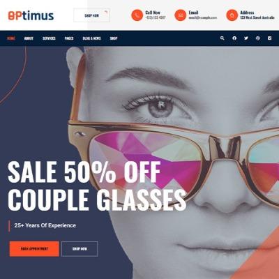 "WordPress шаблон ""Optymus  
