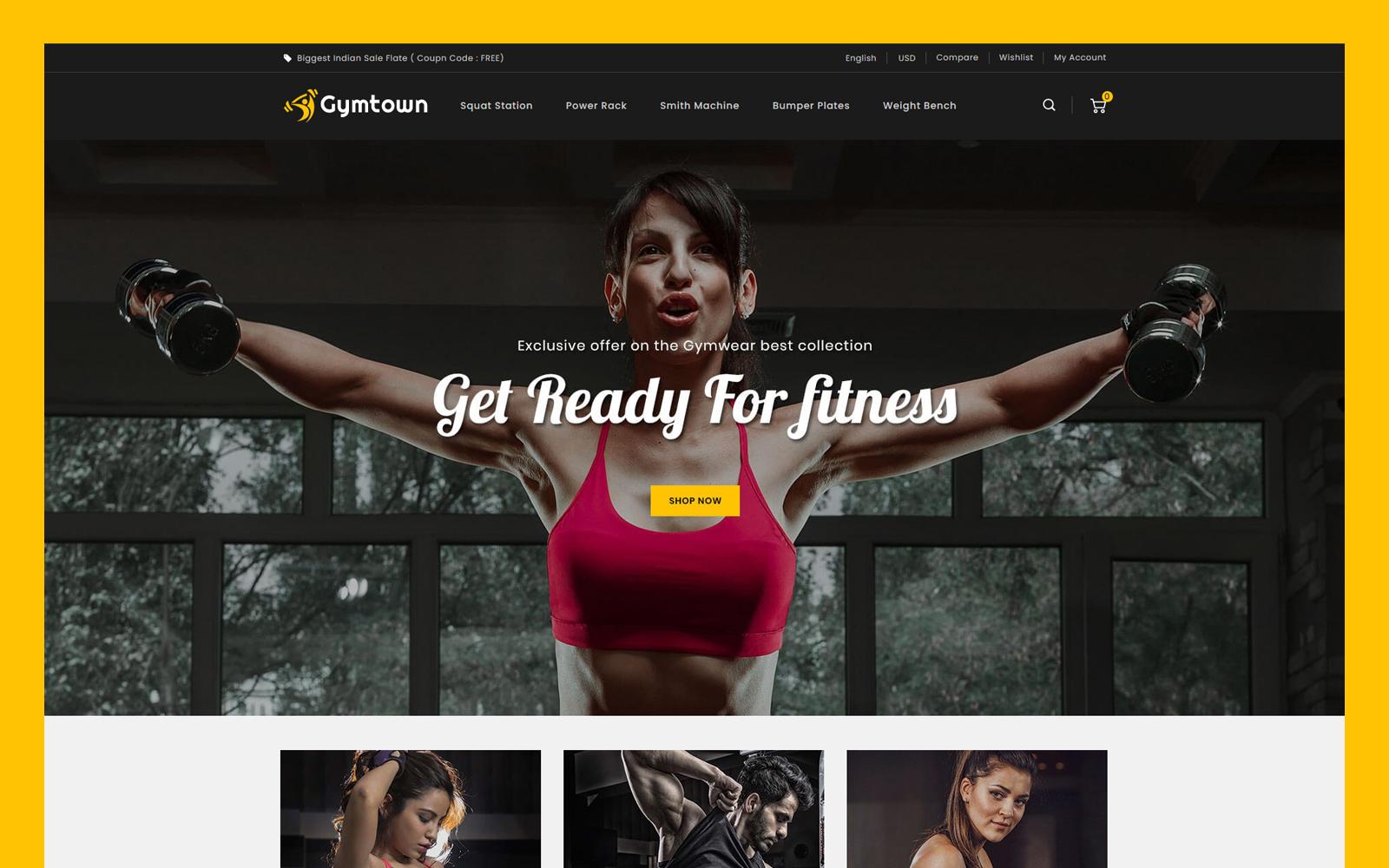 Responsivt Gymtown - Fitness Store PrestaShop-tema #114298