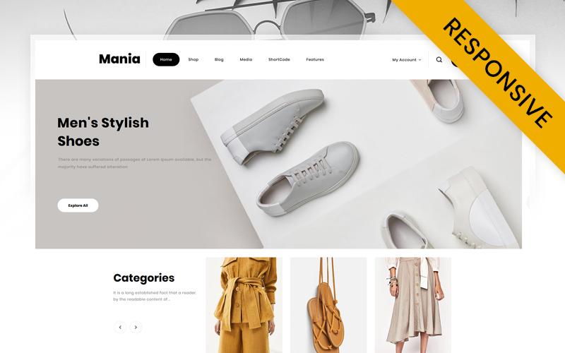 "Tema WooCommerce ""Mania - Online Fashion Store"" #114299"