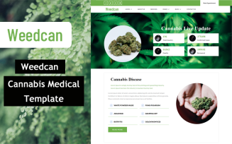 Weedcan - Cannabis Medical html 5 Website Template