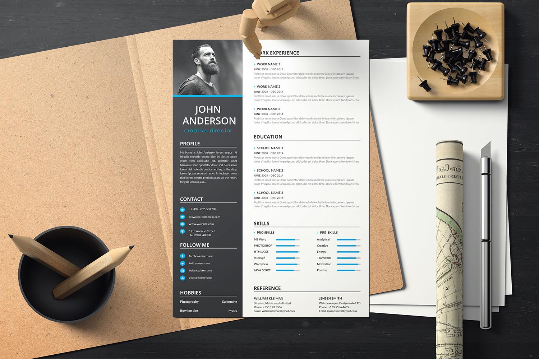 "Lebenslauf-Vorlage namens ""John Anderson - Creative Director CV"" #114482"