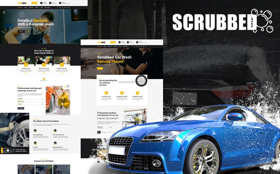 """Modello WordPress Responsive #114542 """"Scrubbed - Car Wash"""""""