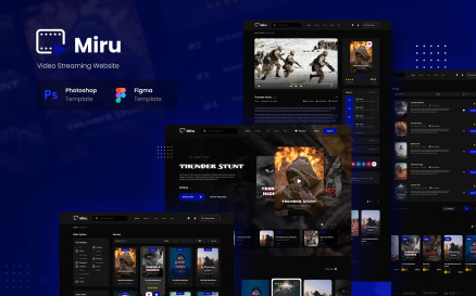 Miru - Video Streaming Website UI Element
