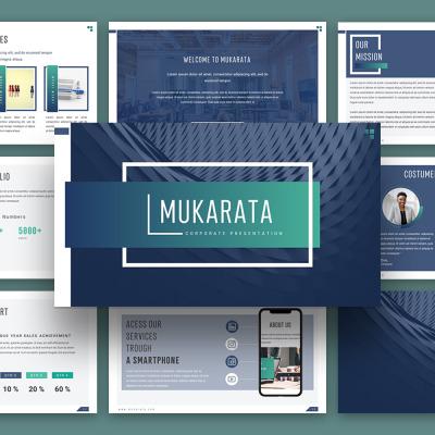 """Luxusní PowerPoint šablona """"Mukarata Modern Company Presentation"""" #114726"""