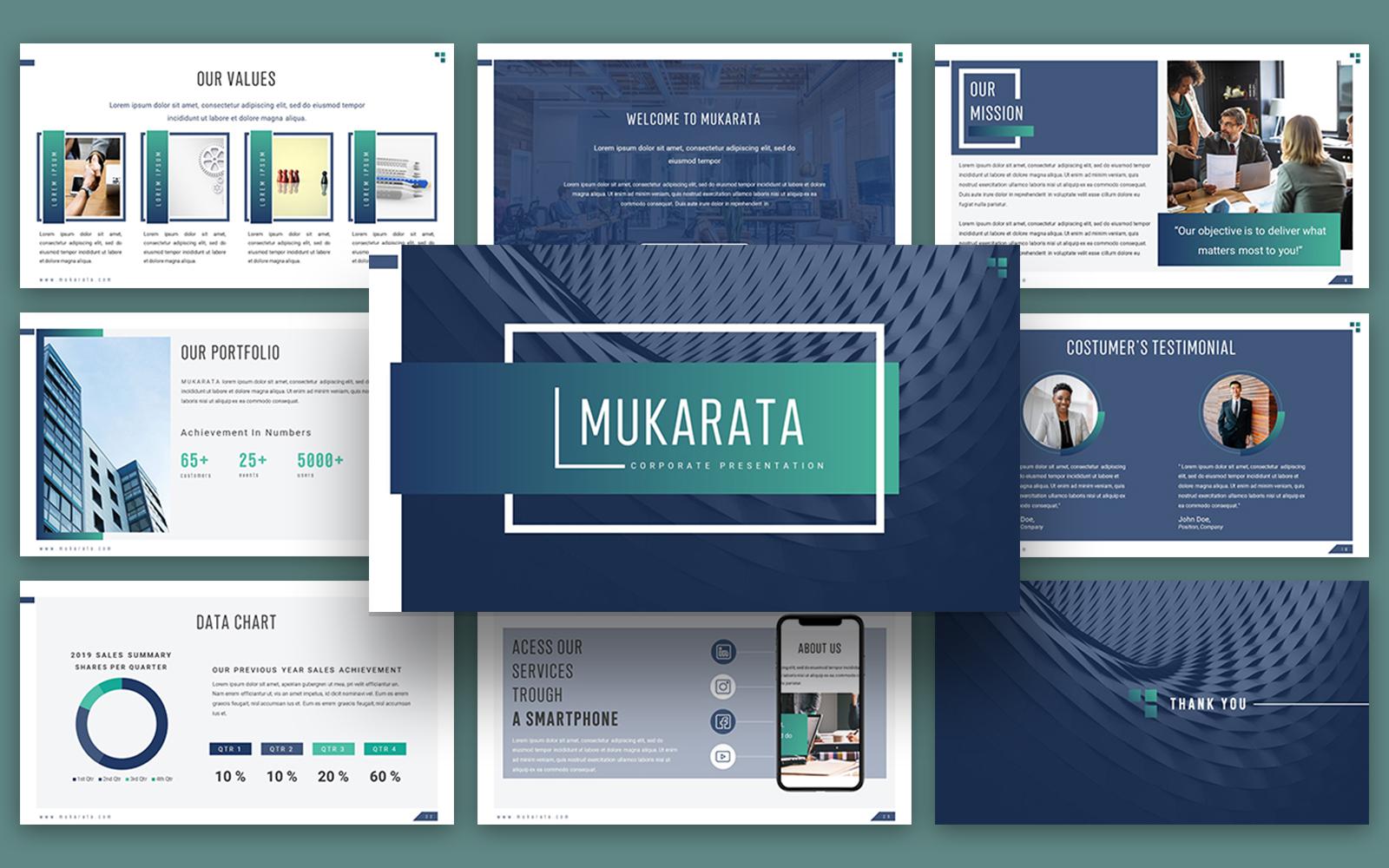 "Tema PowerPoint #114726 ""Mukarata Modern Company Presentation"""