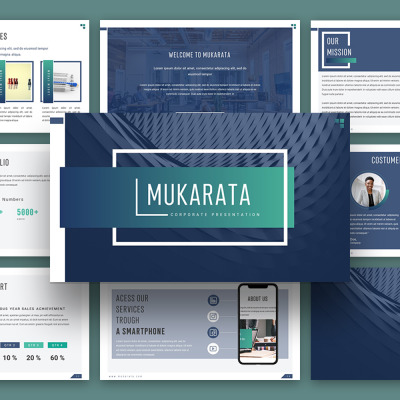 "Tema PowerPoint #114726 ""Mukarata Modern Company Presentation"" #114726"