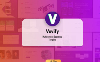 Vovify - Startup Agency Company Landing Page Template